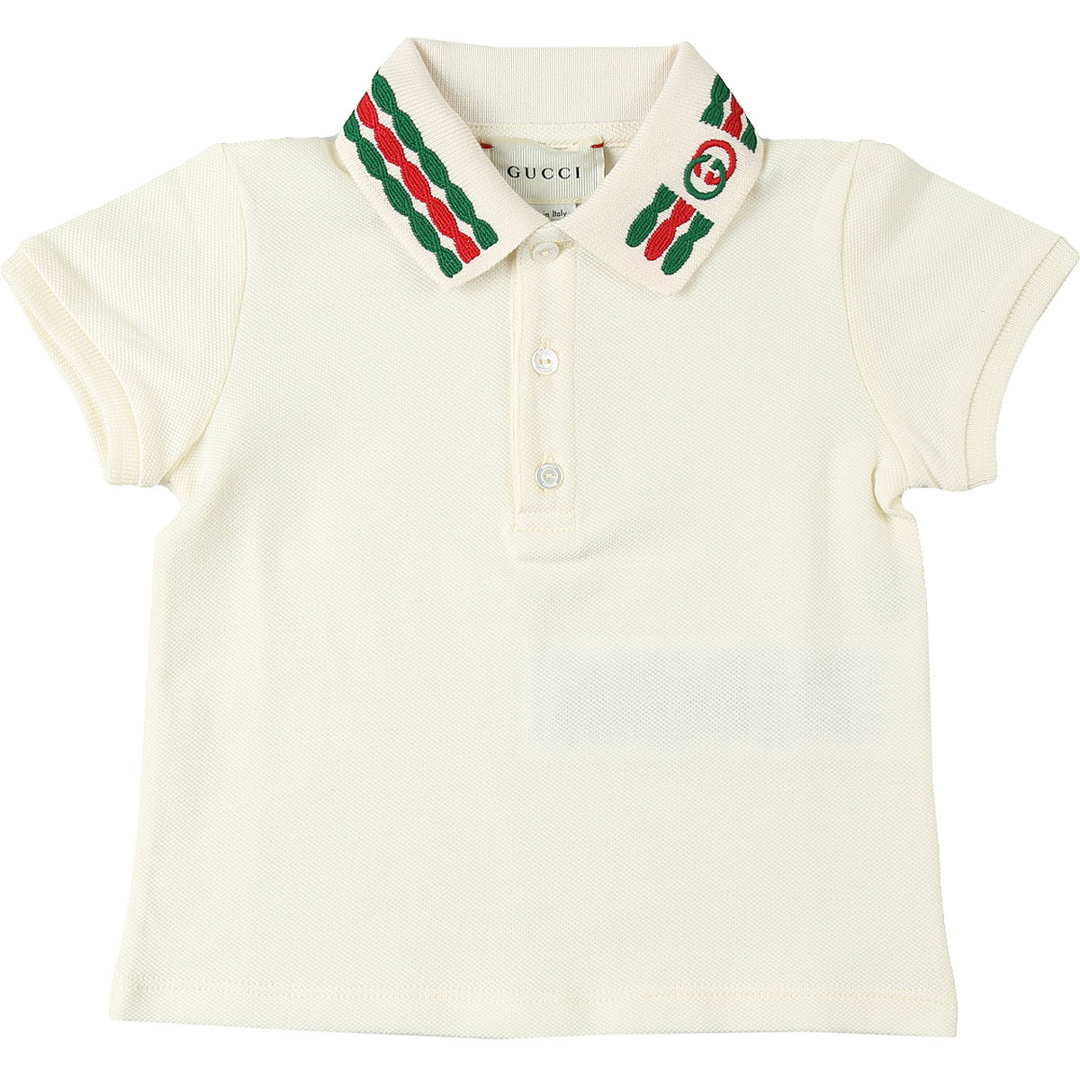 Gucci Baby Polo Shirt for Boys On Sale, Ivory White, Cotton, 2019, 12 M 18M 24M 3Y 9M