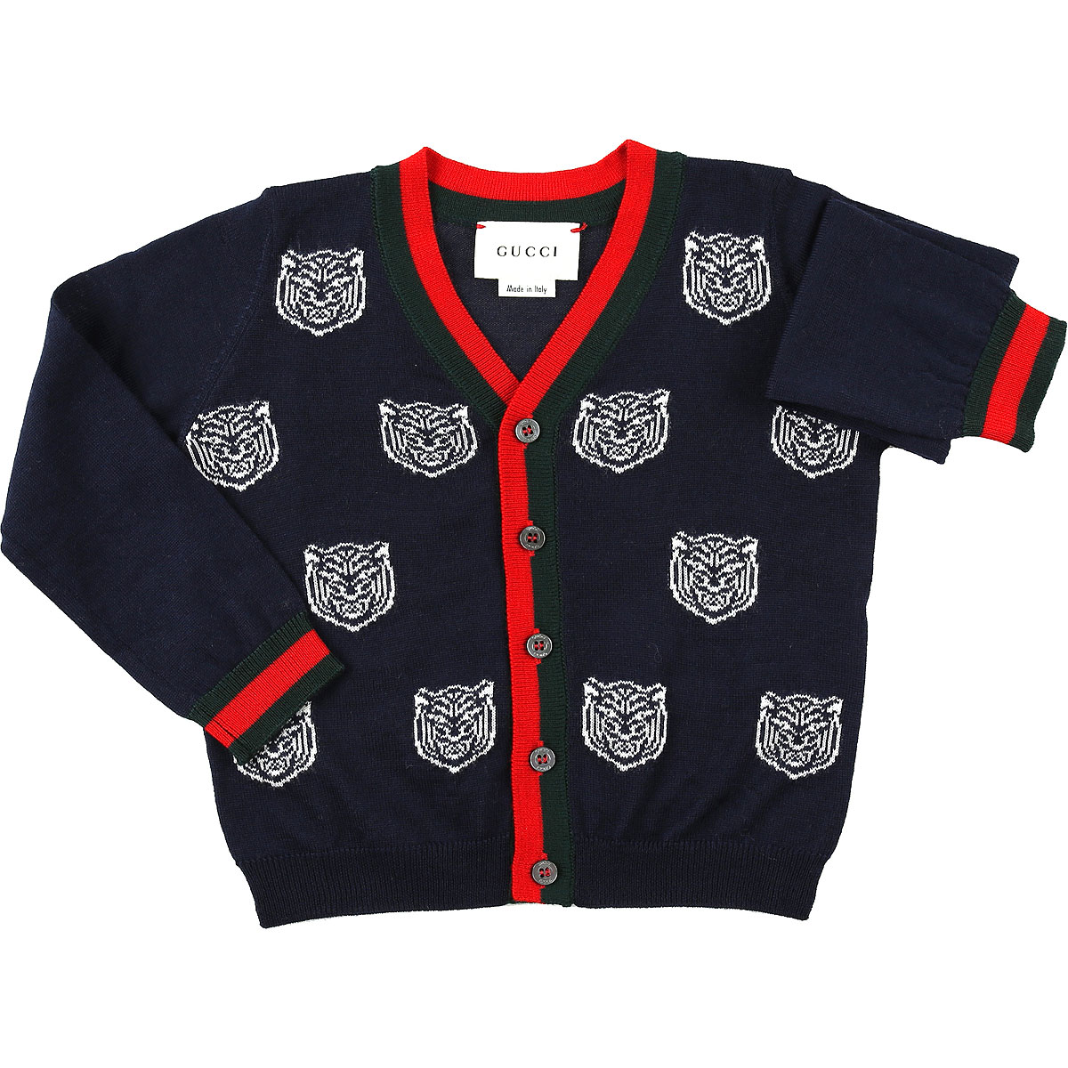 Image of Gucci Baby Sweaters for Girls, Blue, Wool, 2017, 12M 2Y 3Y 6M 9M