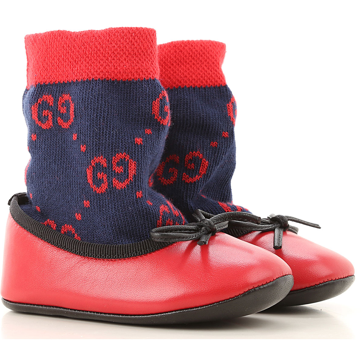 Gucci Baby Shoes for Girls On Sale, Red, Leather, 2019, 2.5C 2C