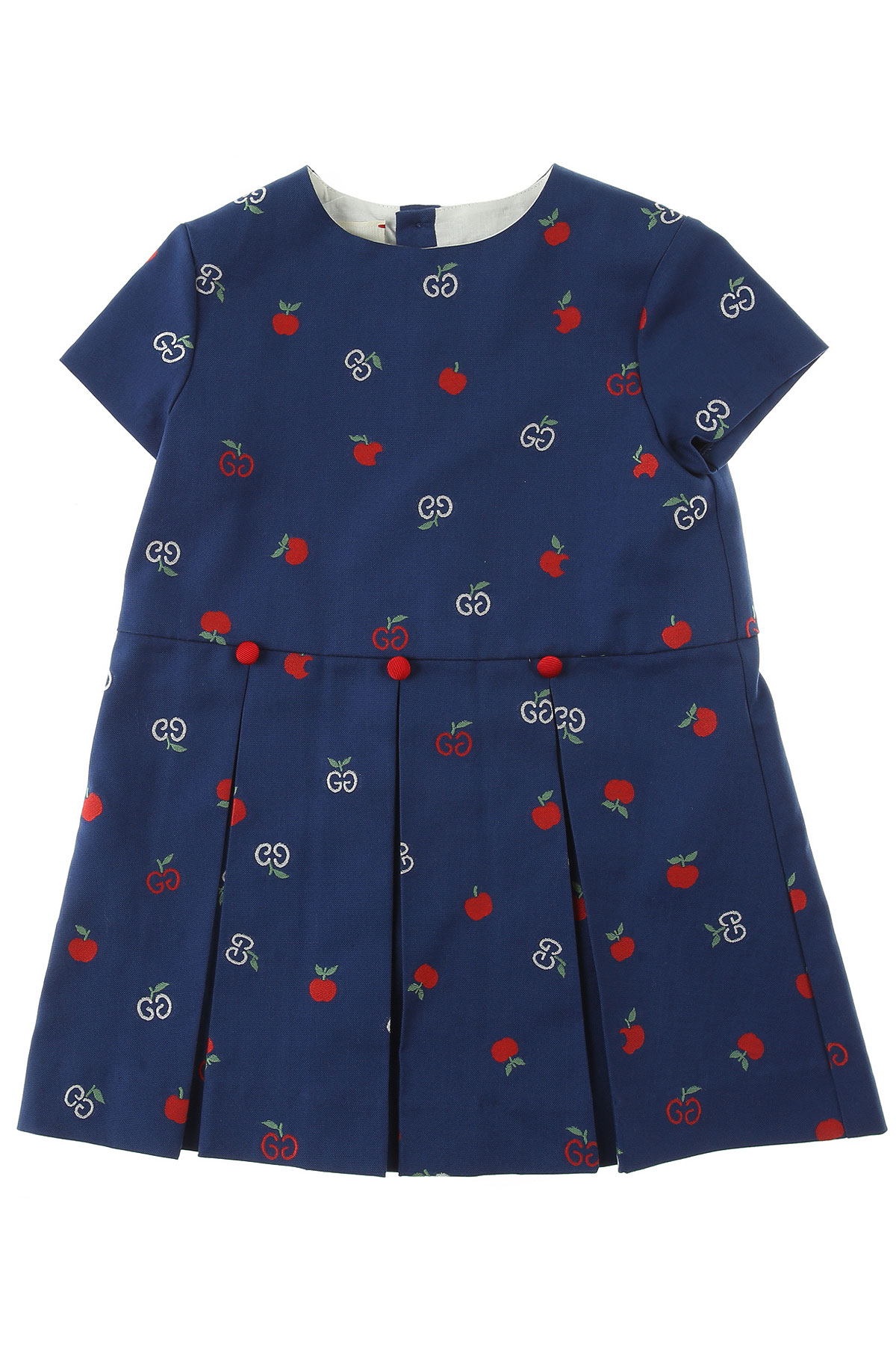 Gucci Baby Dress for Girls On Sale, Avio Blue, Cotton, 2019, 2Y 3Y