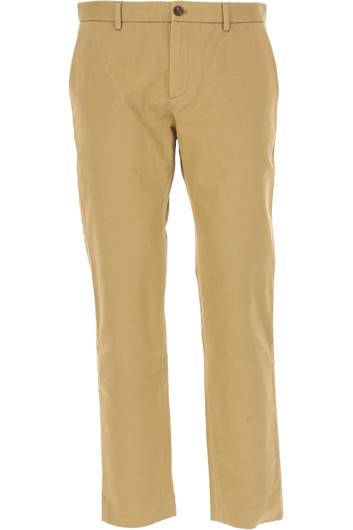 グッチ パンツ 男性用 メンズ セール, ベージュ, コットン, 2017, 76 81