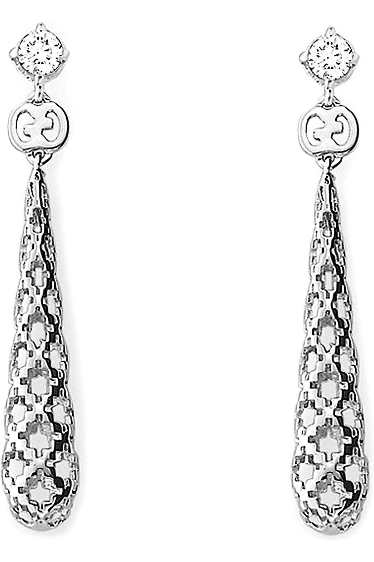 Gucci Boucle d'Oreille Femme, Or blanc, Or Blanc 18 Carats, 2019