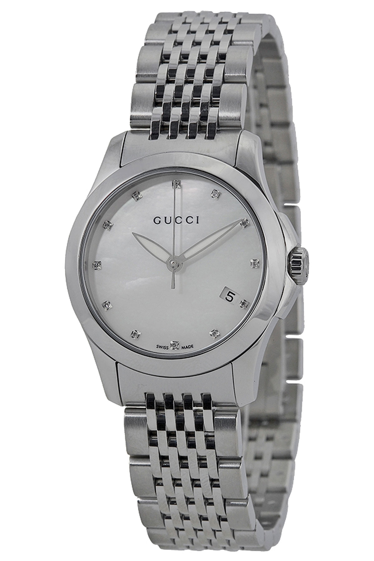 Image of Gucci Watch for Women, Silver, Stainless Steel, 2017