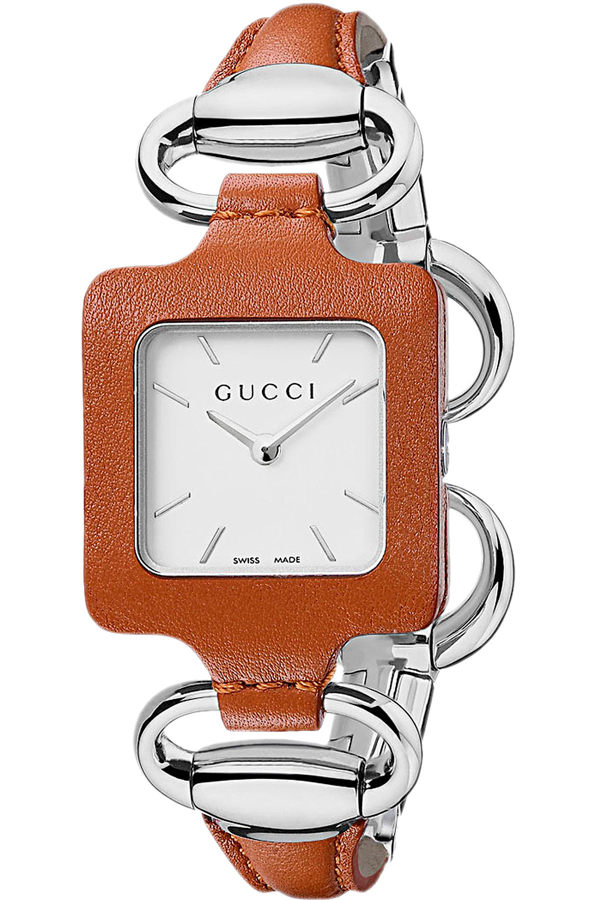 Image of Gucci Watch for Women, Brown, Leather, 2017
