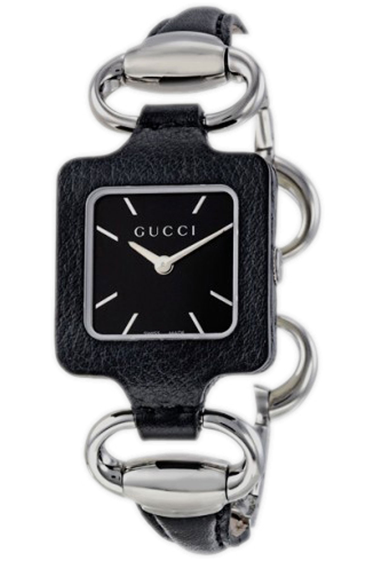 Image of Gucci Watch for Women, Black, Leather, 2017