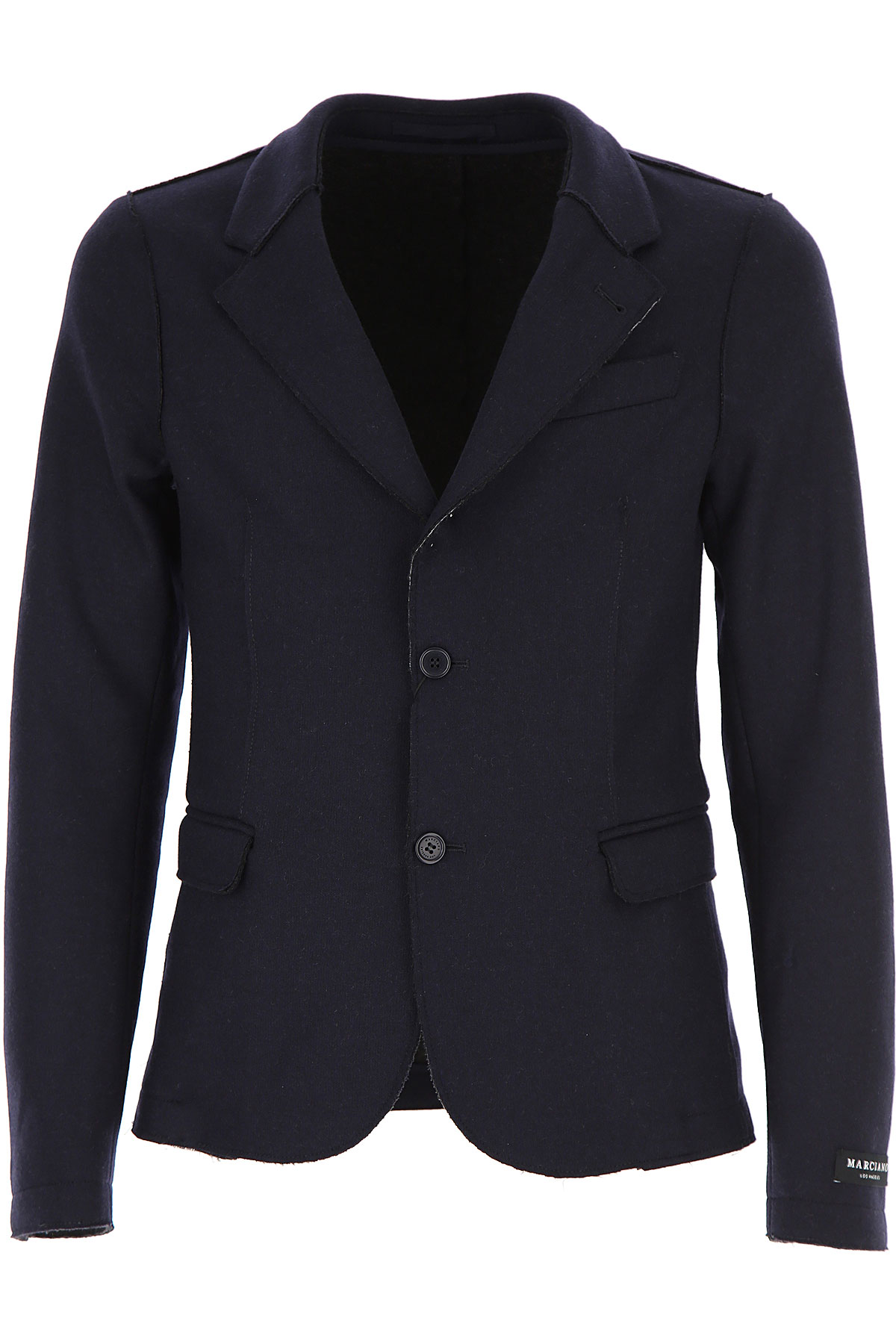 Image of Guess Blazer for Men, Sport Coat, Dark Blue, Wool, 2017, L M XL