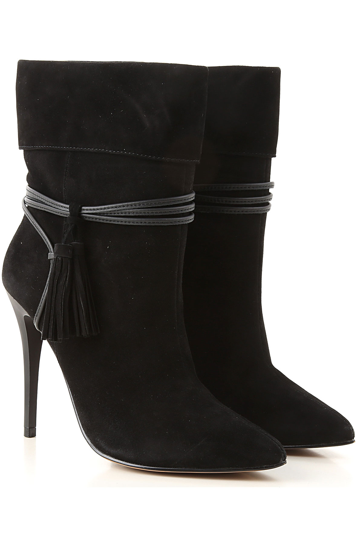 Guess Boots for Women, Booties On Sale, Black, Suede leather, 2019, 5 6 7 9