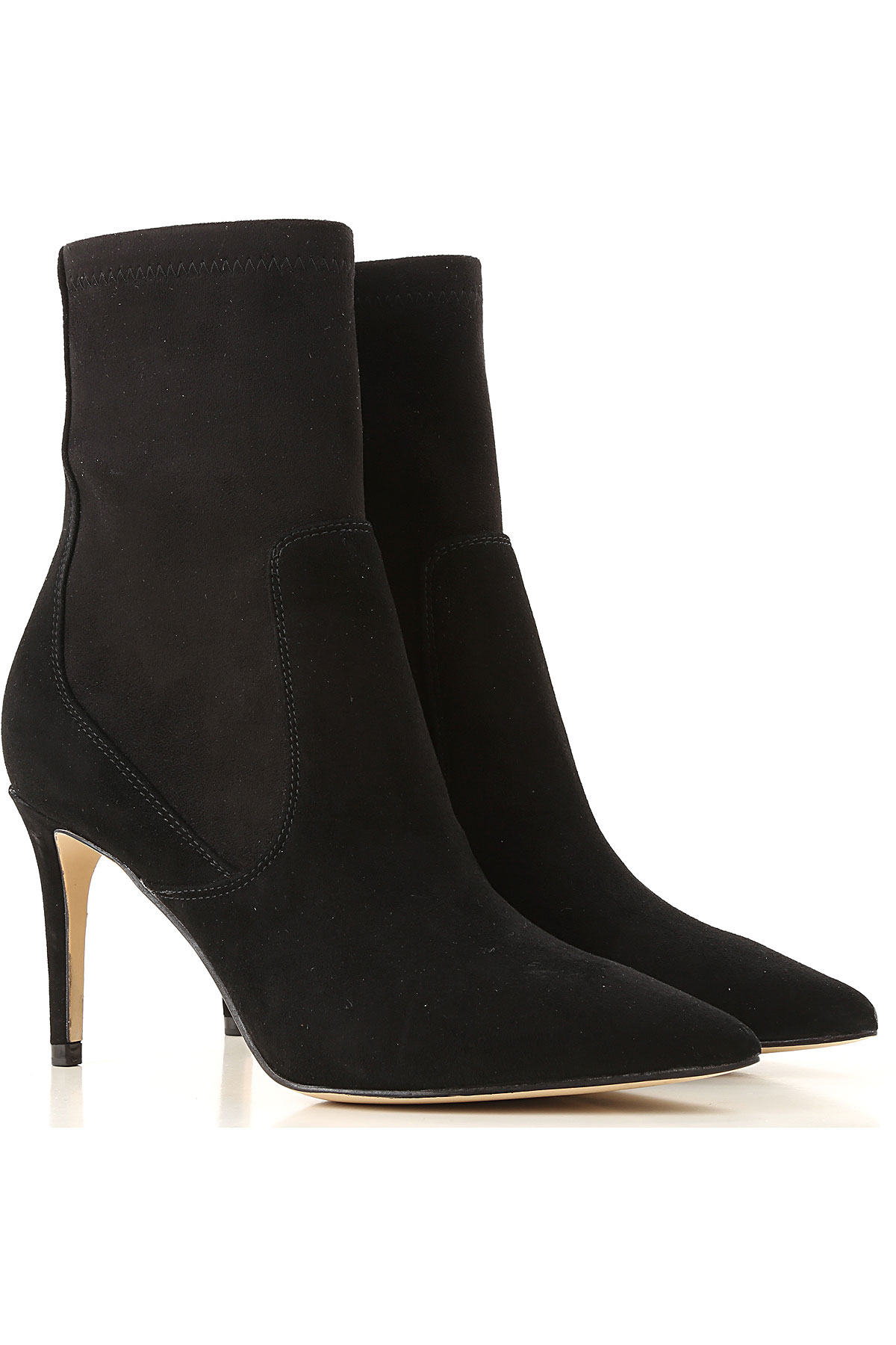 Image of Guess Boots for Women, Booties, Black, Suede leather, 2017, 10 5 6 7 8 9
