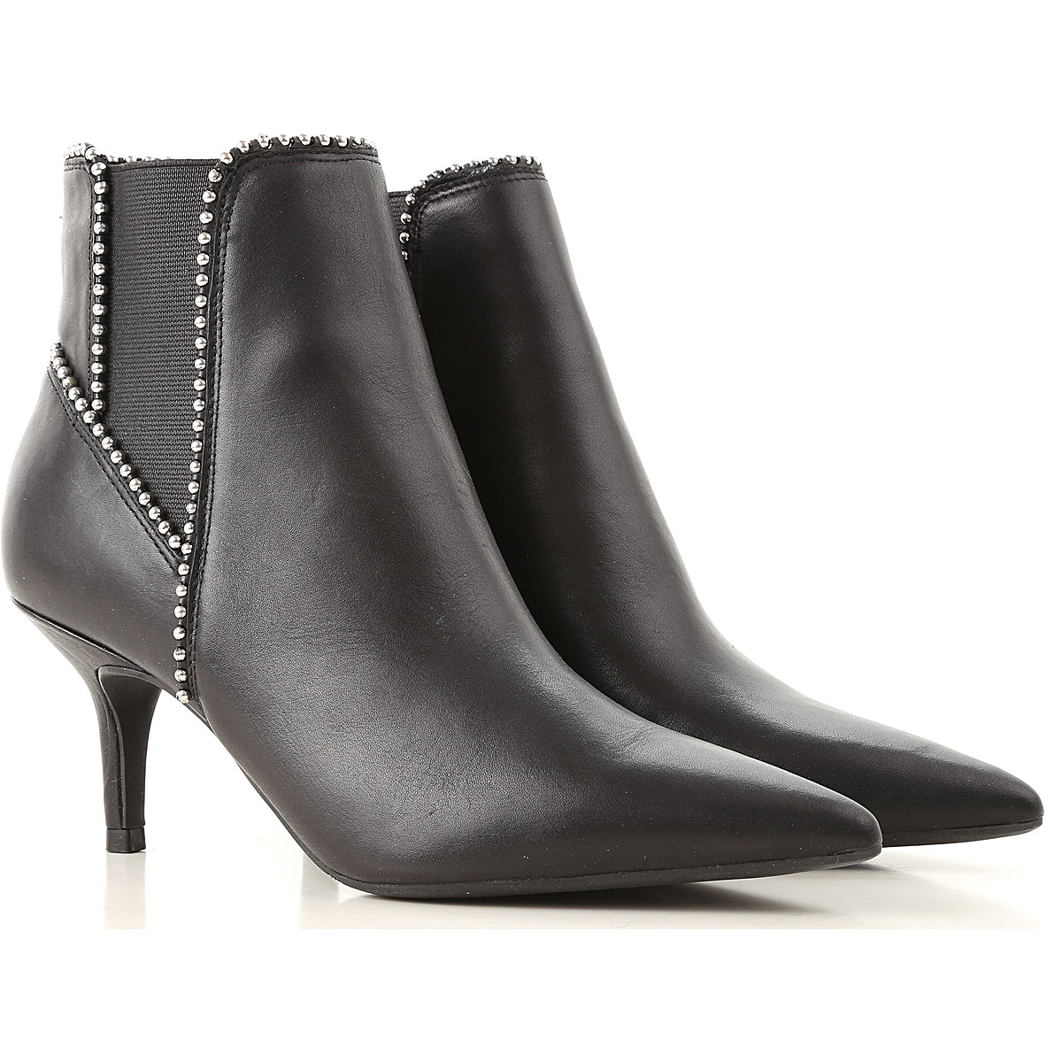 Image of Guess Boots for Women, Booties, Black, Leather, 2017, 10 6 7 8