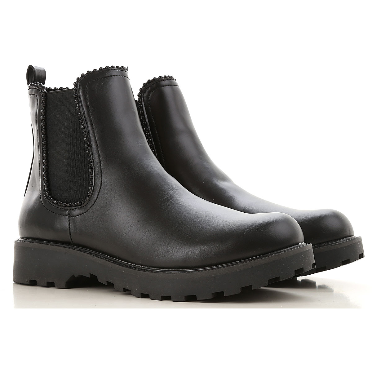Image of Guess Boots for Women, Booties, Black, Leather, 2017, 10 11 6 7 8 9