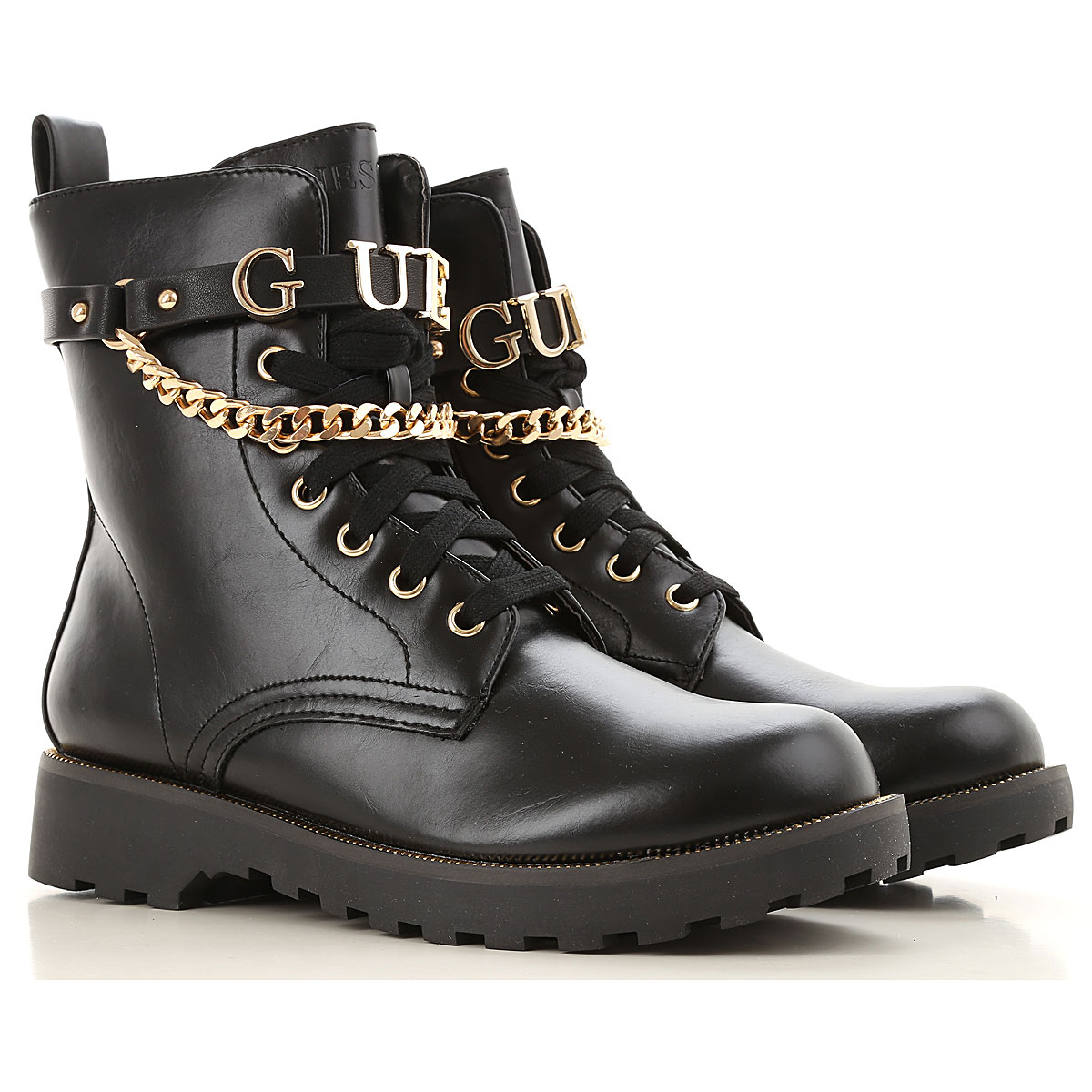 Image of Guess Boots for Women, Booties, Black, Leather, 2017, 10 6 7 8 9