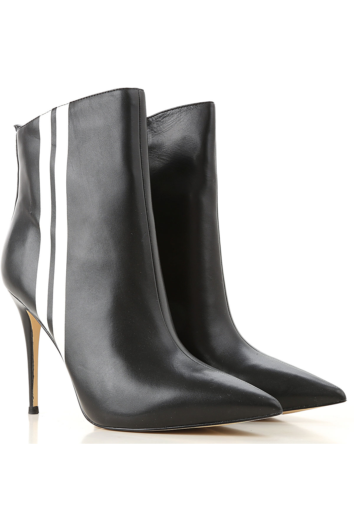 Image of Guess Boots for Women, Booties, Black, Leather, 2017, 8 9.5