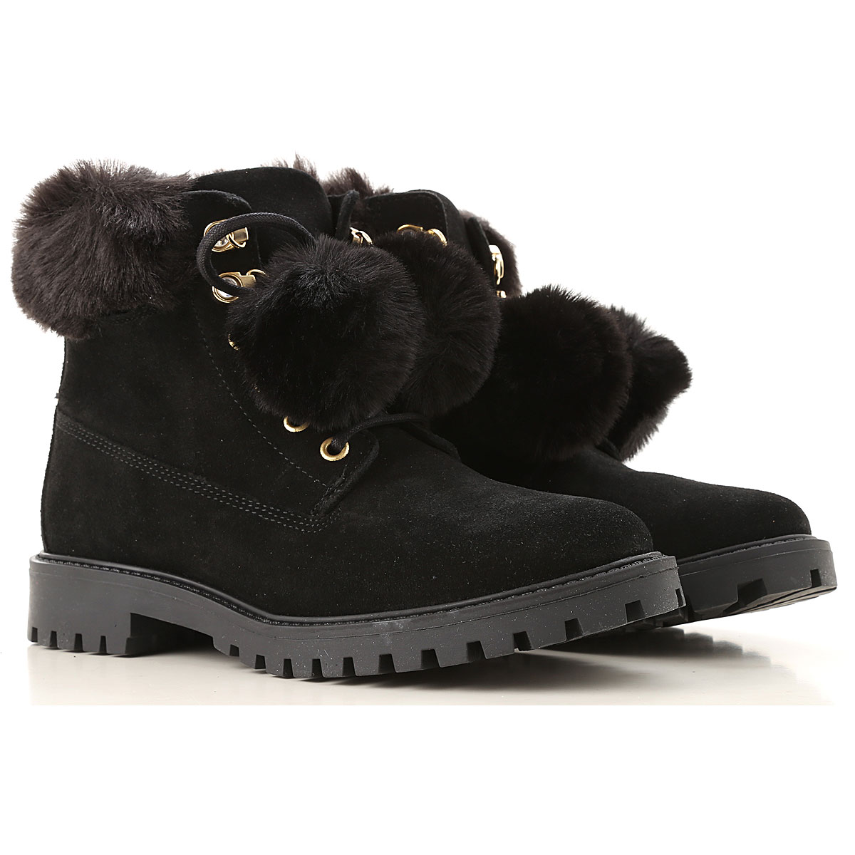 Image of Guess Boots for Women, Booties, Black, Suede leather, 2017, 10 6 7 8 9