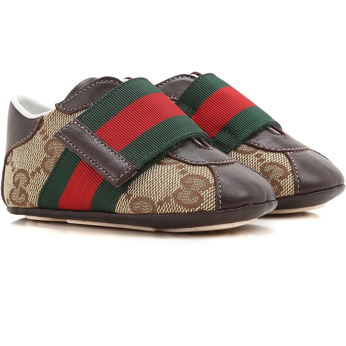 Image of Gucci Baby Shoes for Boys, Ebony, Fabric, 2017, ita-16 ita-17 ita-18 ita-19