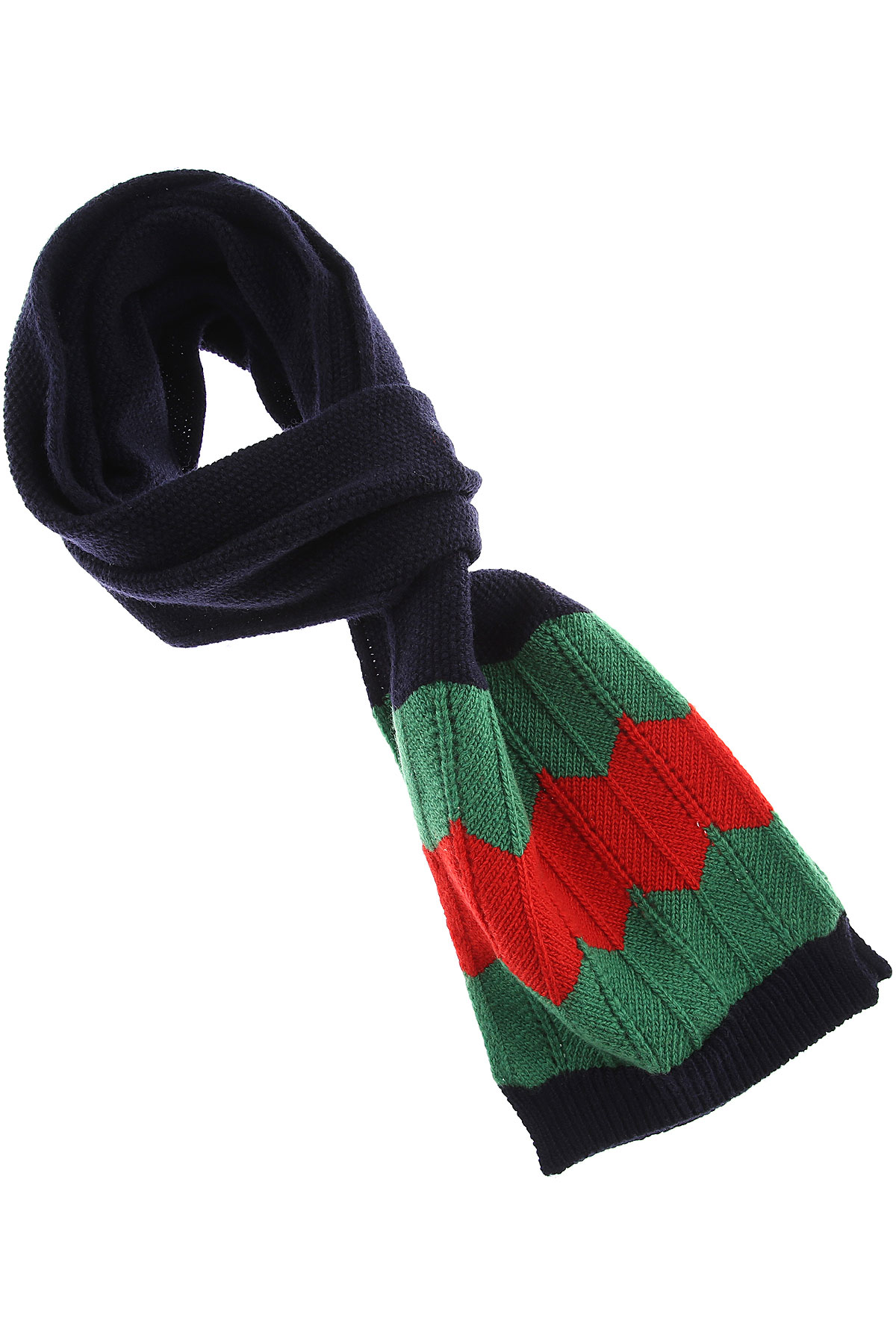 Image of Gucci Kids Scarves for Boys, Blue, Wool, 2017