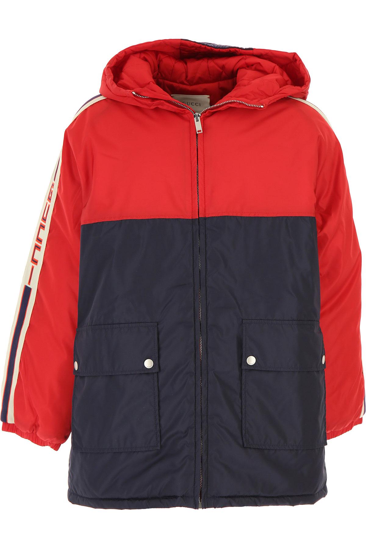 Gucci Boys Down Jacket for Kids, Puffer Ski Jacket On Sale, navy, polyamide, 2019, 10Y 12Y