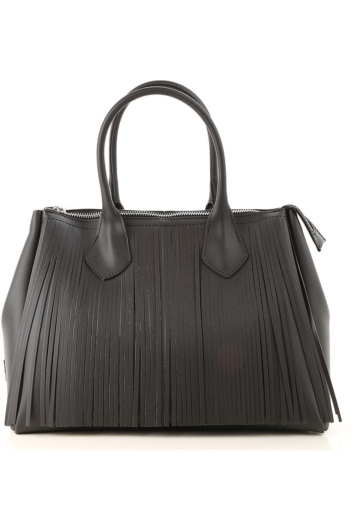 Image of GUM Gianni Chiarini Design Top Handle Handbag, Black, Coated Canvas, 2017