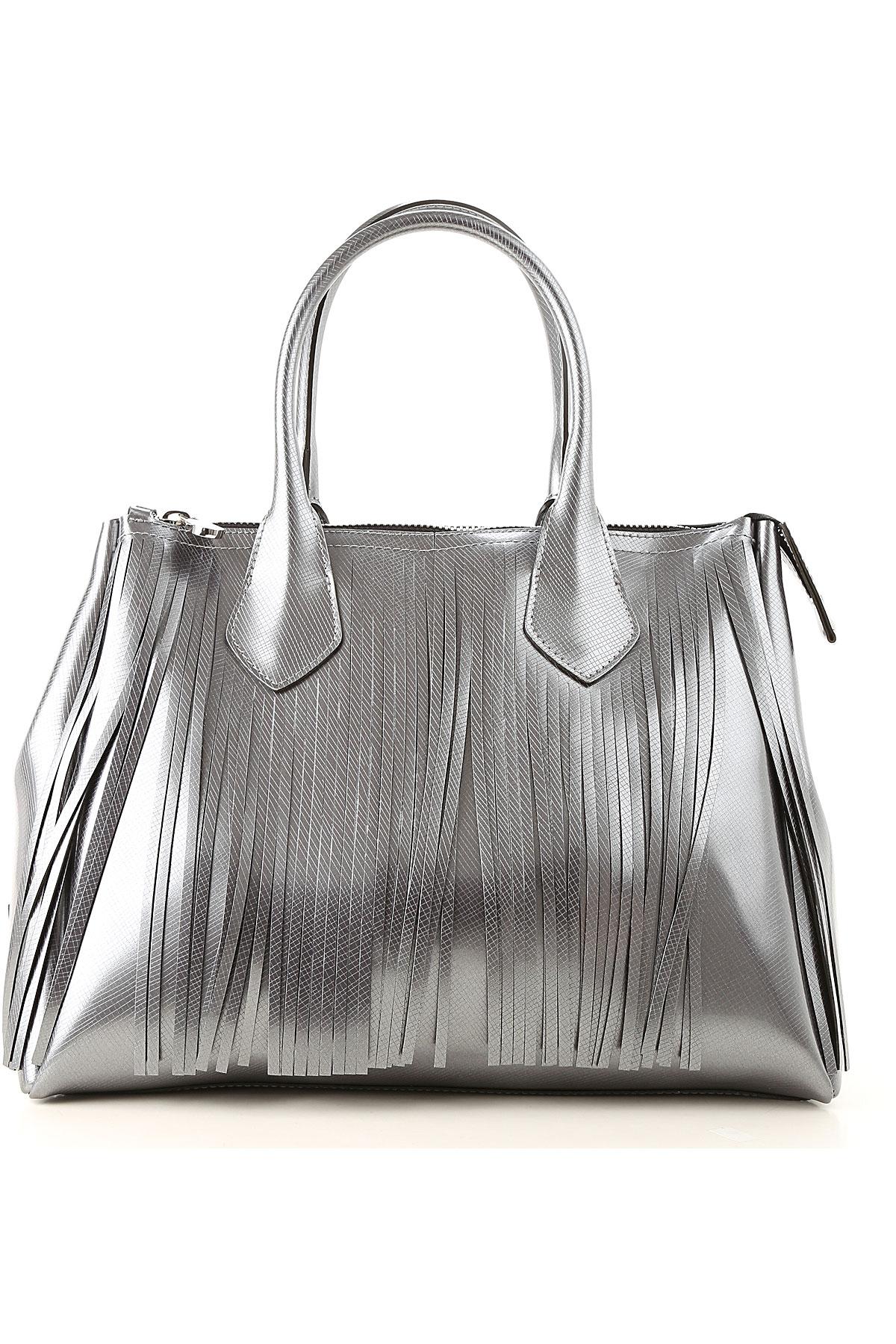 Image of GUM Gianni Chiarini Design Top Handle Handbag, Graphite Grey, Coated Canvas, 2017
