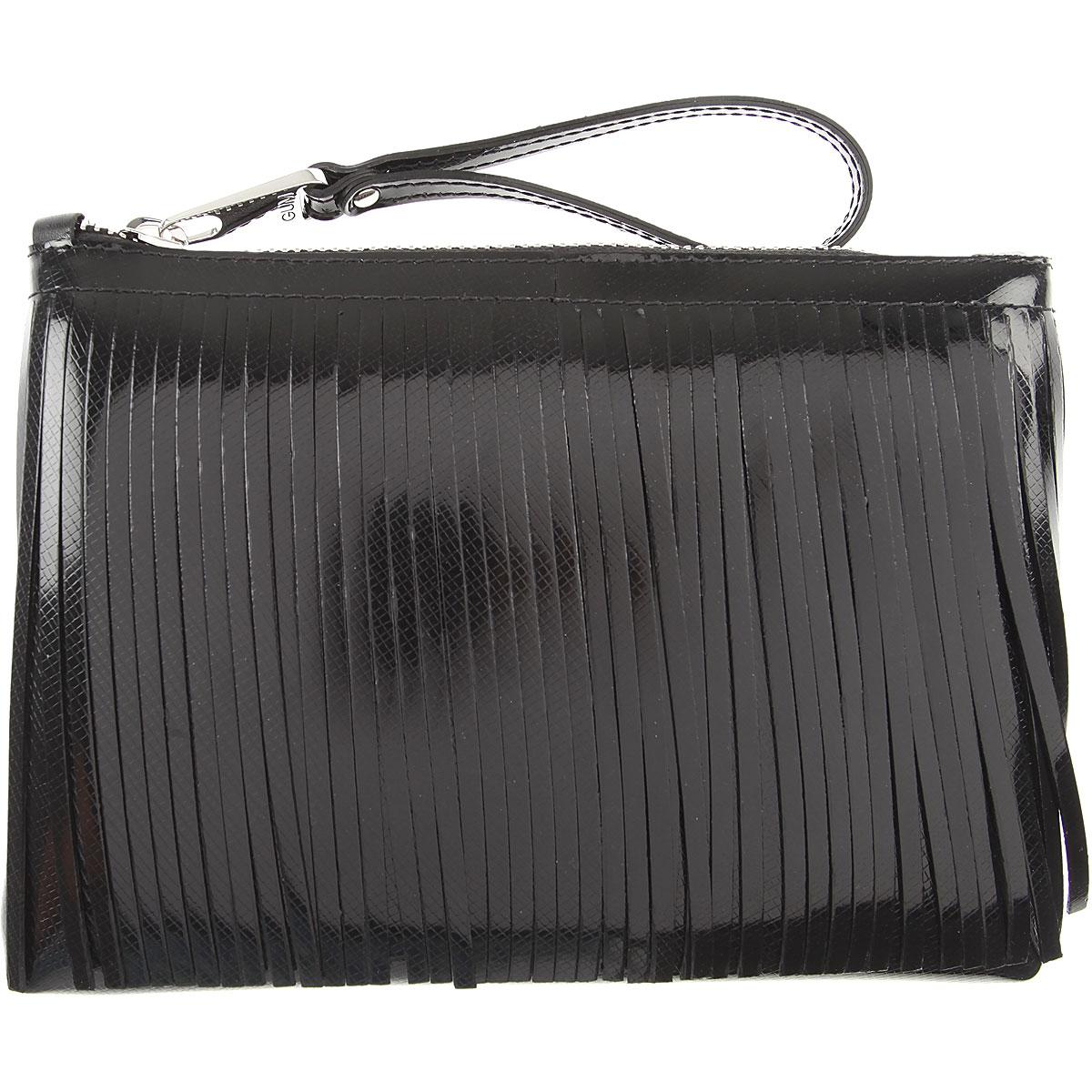 Image of GUM Gianni Chiarini Design Women\'s Pouch, Black, Patent Leather, 2017
