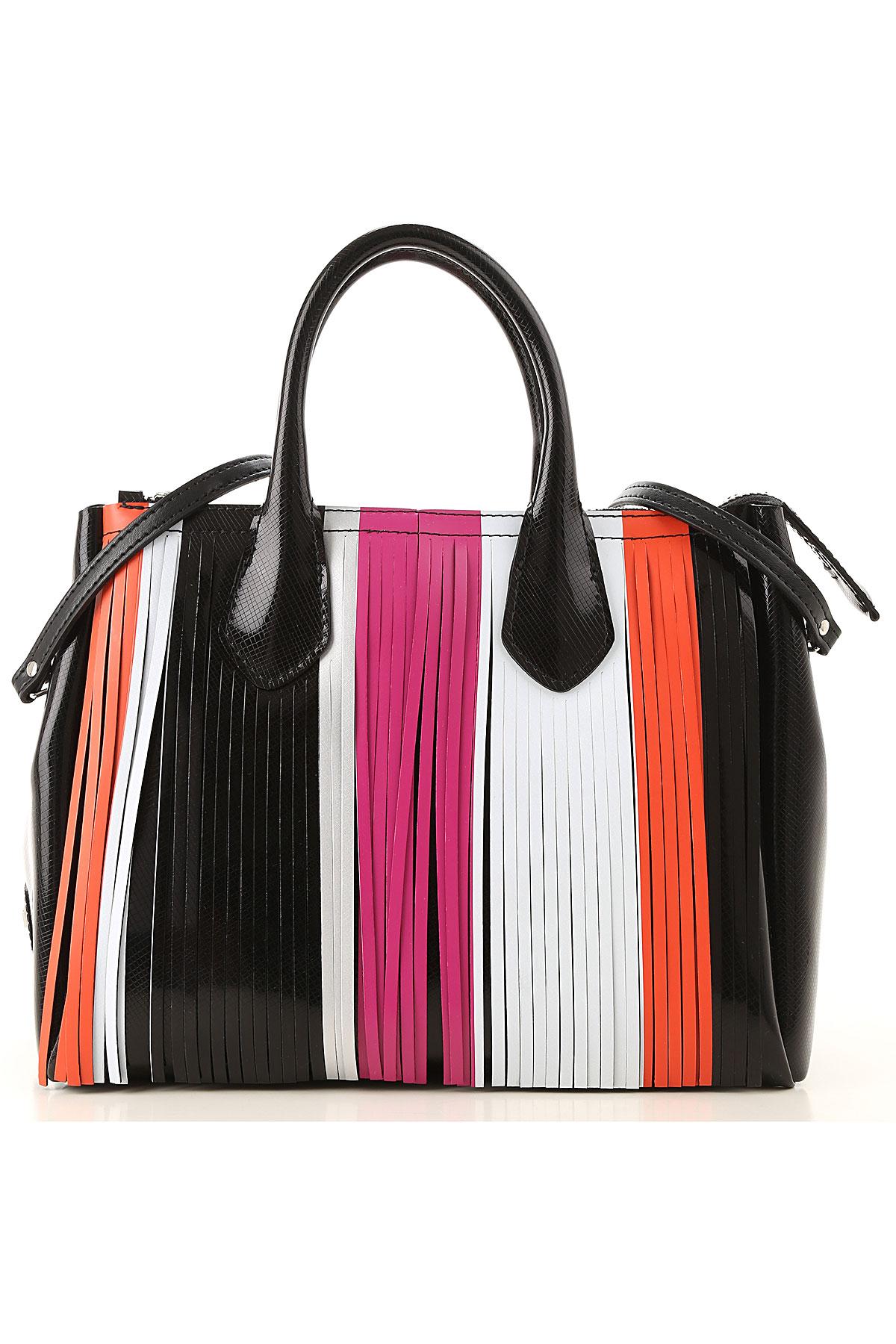 GUM Gianni Chiarini Design Top Handle Handbag On Sale in Outlet, Black, PVC, 2019