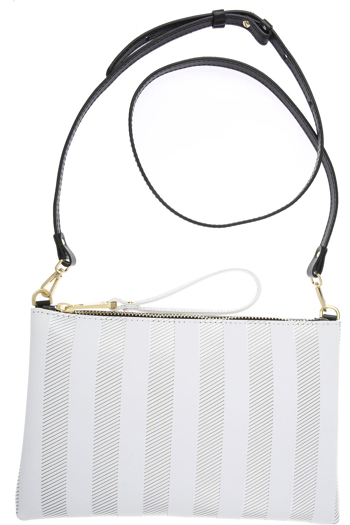 GUM Gianni Chiarini Design Shoulder Bag for Women On Sale, White, PVC, 2019