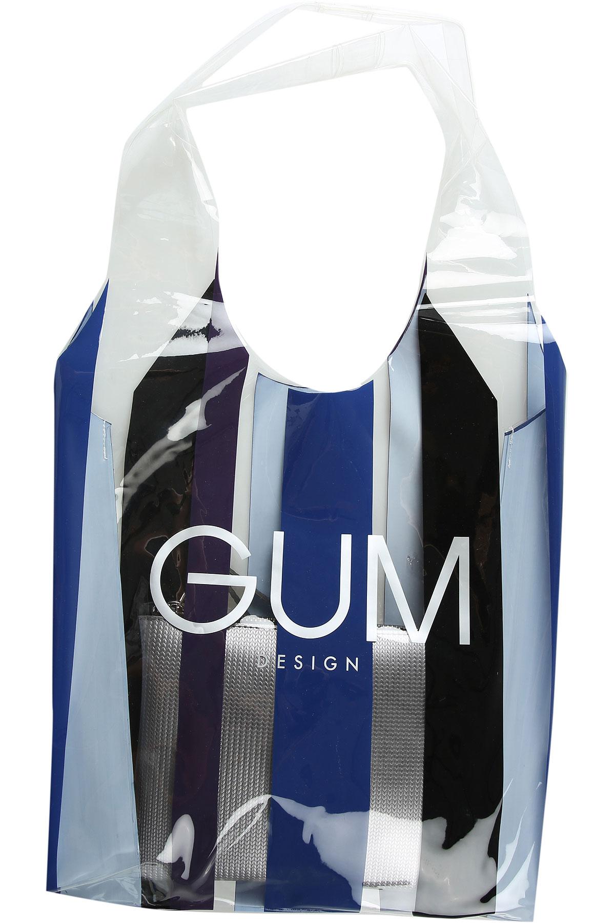 GUM Gianni Chiarini Design Sac Cabas Pas cher en Soldes, Bleu, PVC, 2019