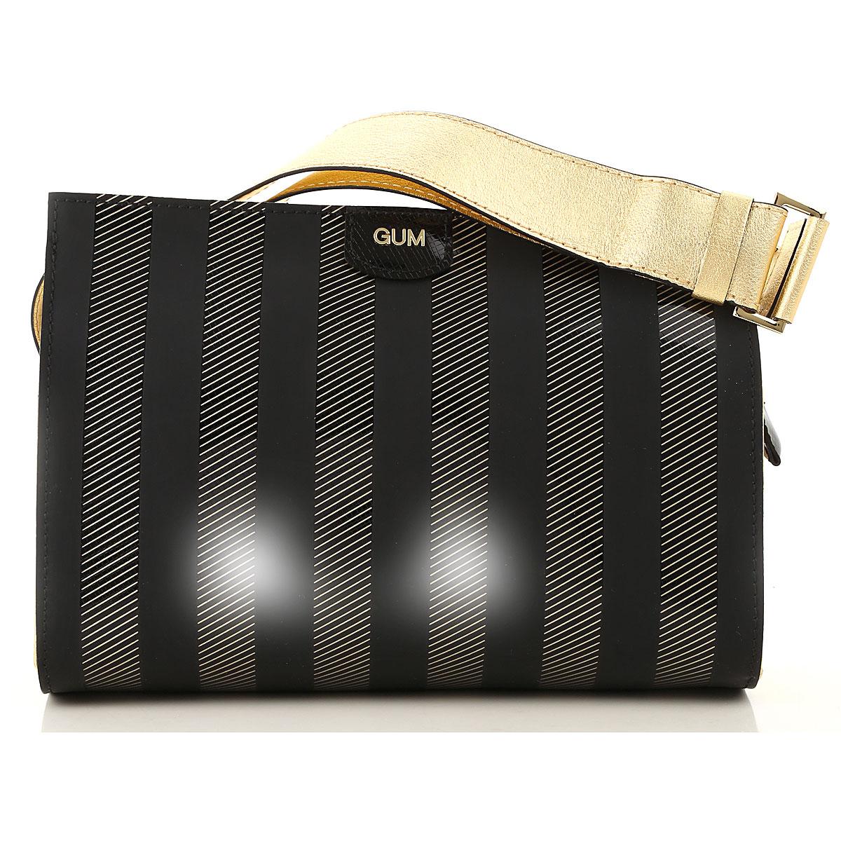 GUM Gianni Chiarini Design Shoulder Bag for Women On Sale, Black, Vynil, 2019