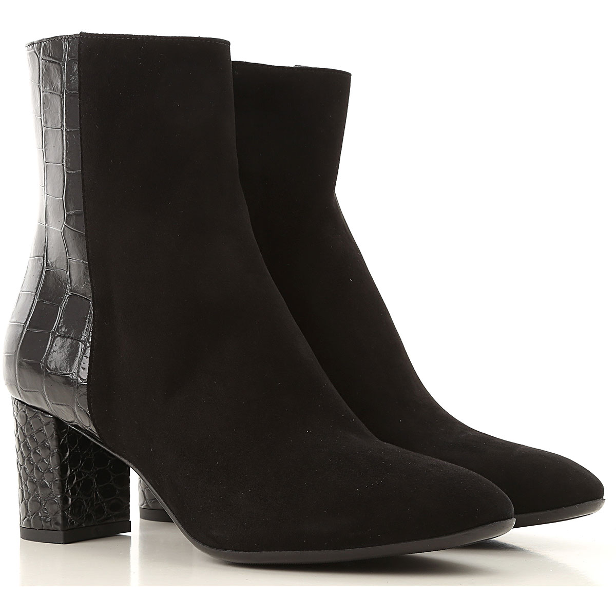 Guglielmo Rotta Boots for Women, Booties On Sale, Black, Leather, 2019, 7 8 9