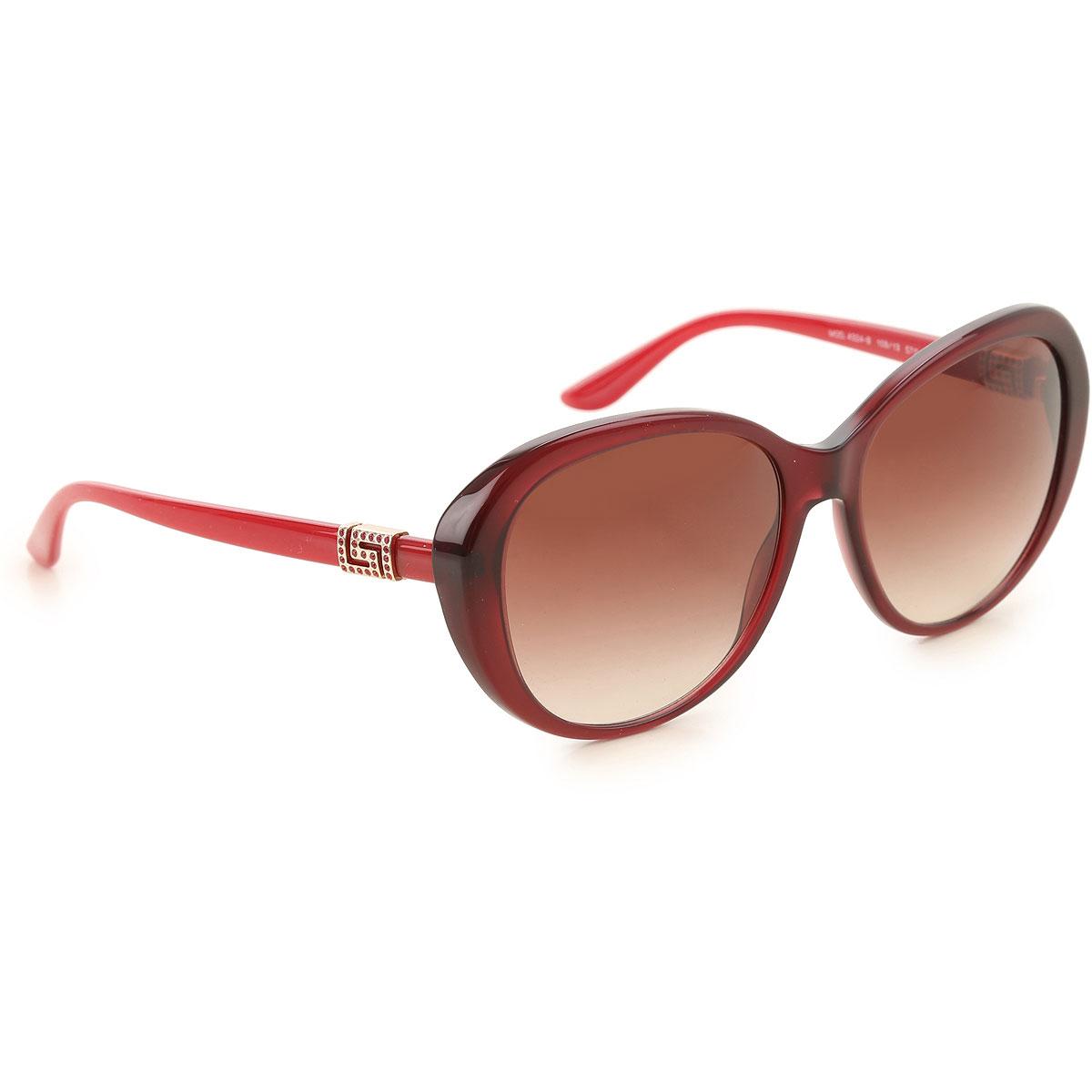 Gianni Versace Sunglasses On Sale, Burgundy, 2019
