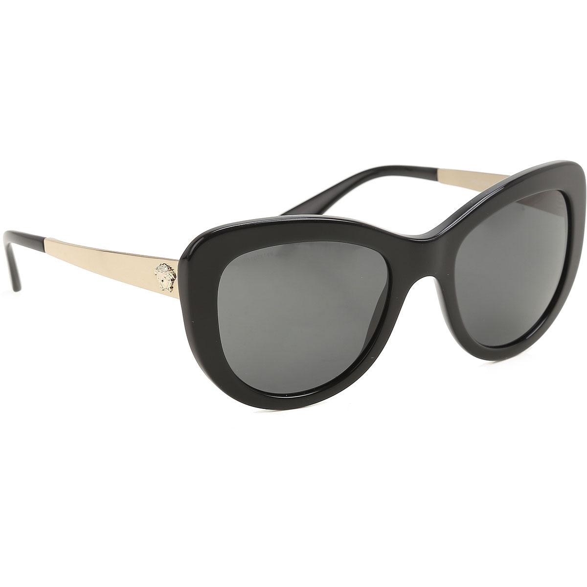 Gianni Versace Sunglasses On Sale, Black, 2019
