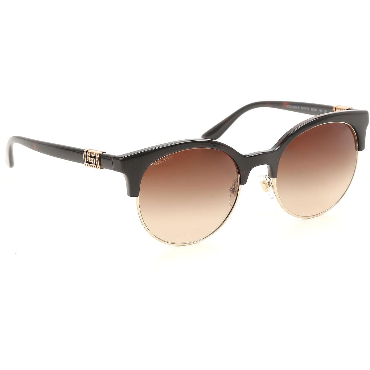 Gianni Versace Sunglasses On Sale, Brown, 2019