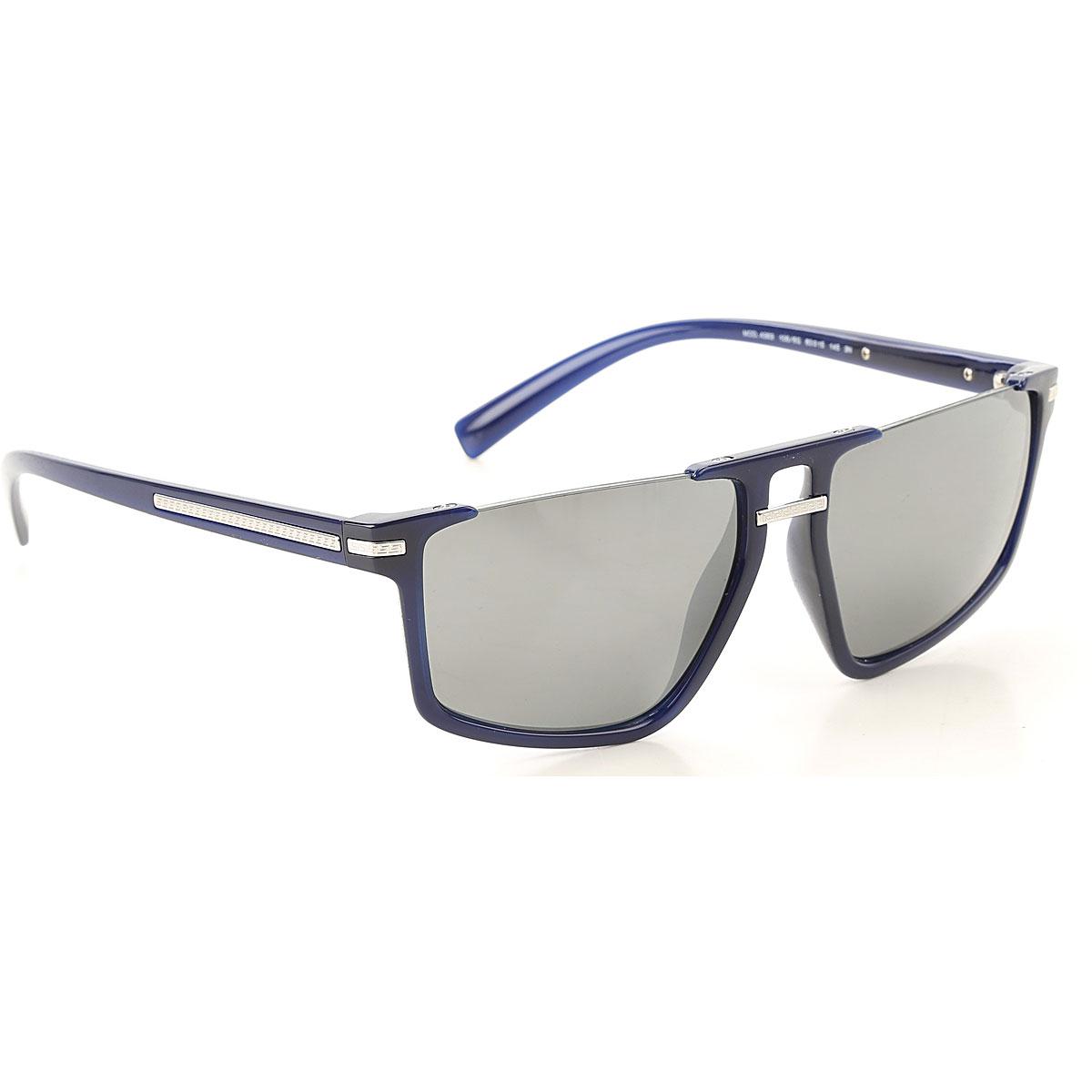 Gianni Versace Sunglasses On Sale, Blue, 2019