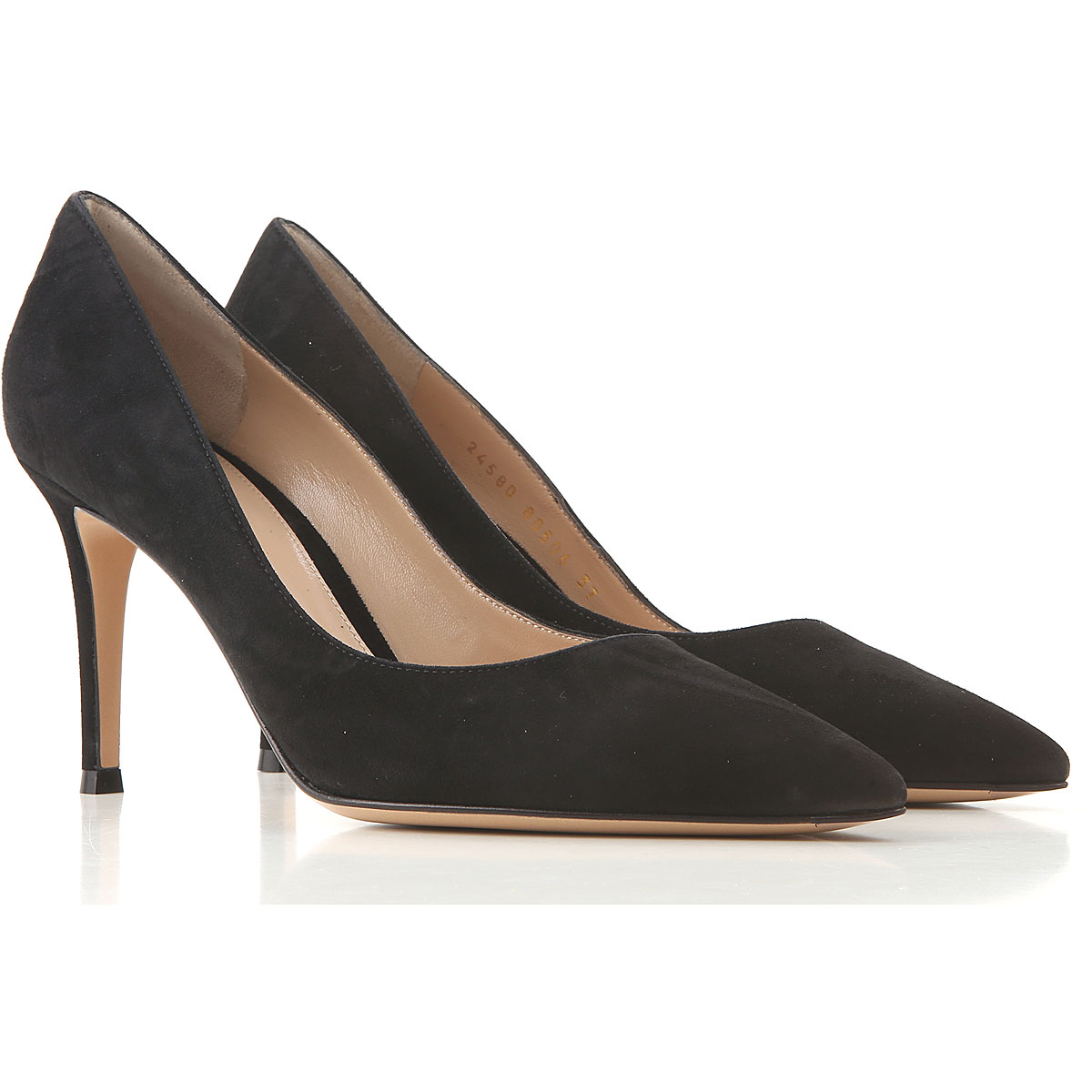Gianvito Rossi Pumps & High Heels for Women On Sale, Black, Suede leather, 2019, 6.5 8.5 9.5