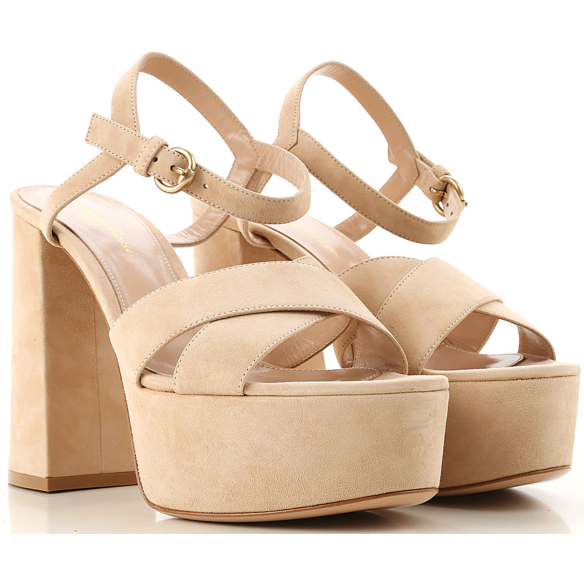 Gianvito Rossi Sandals for Women On Sale, Nude, Suede leather, 2019, 10 5.5 6 9
