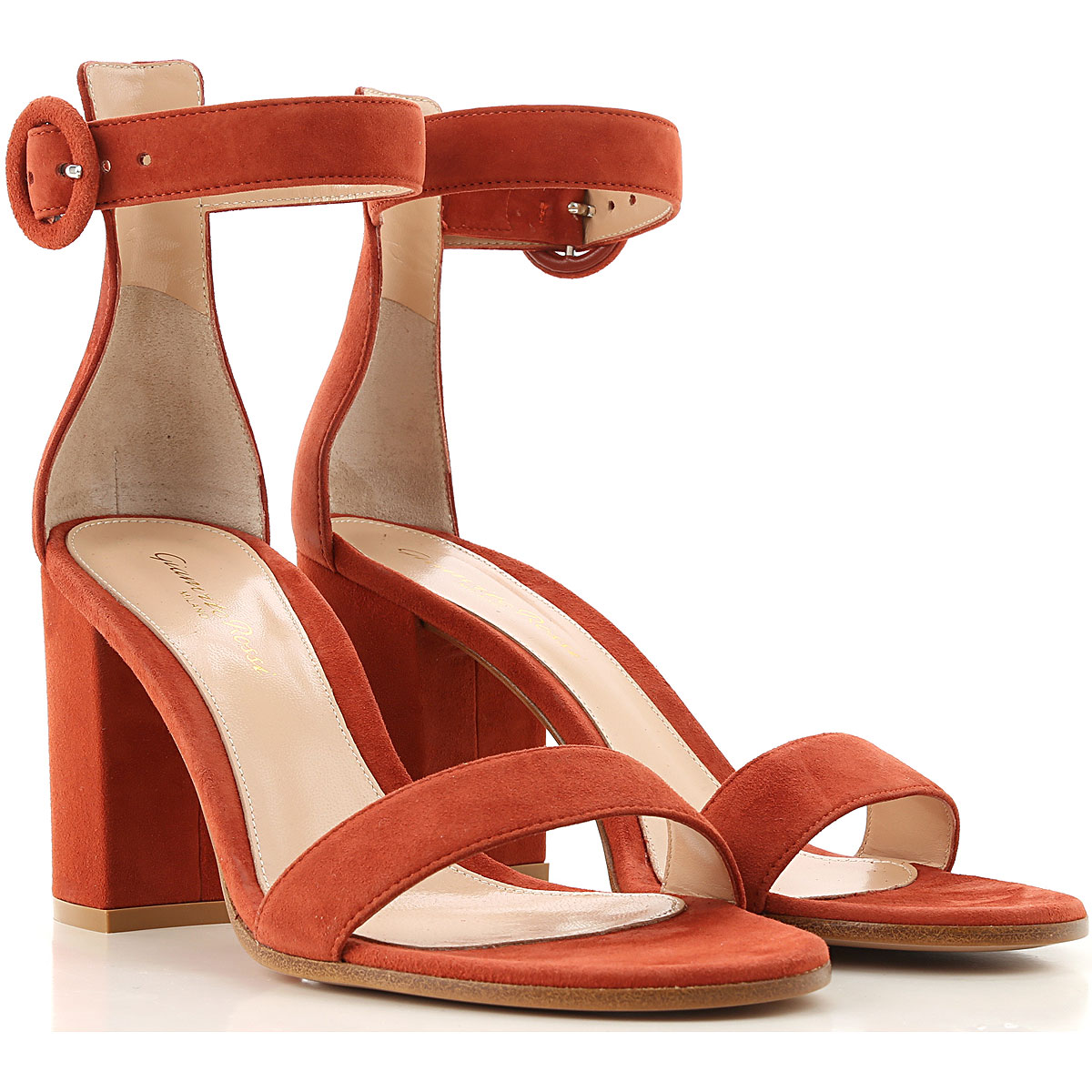 Gianvito Rossi Sandals for Women On Sale, Brick, Suede leather, 2019, 10 5 6 6.5 7 8 9