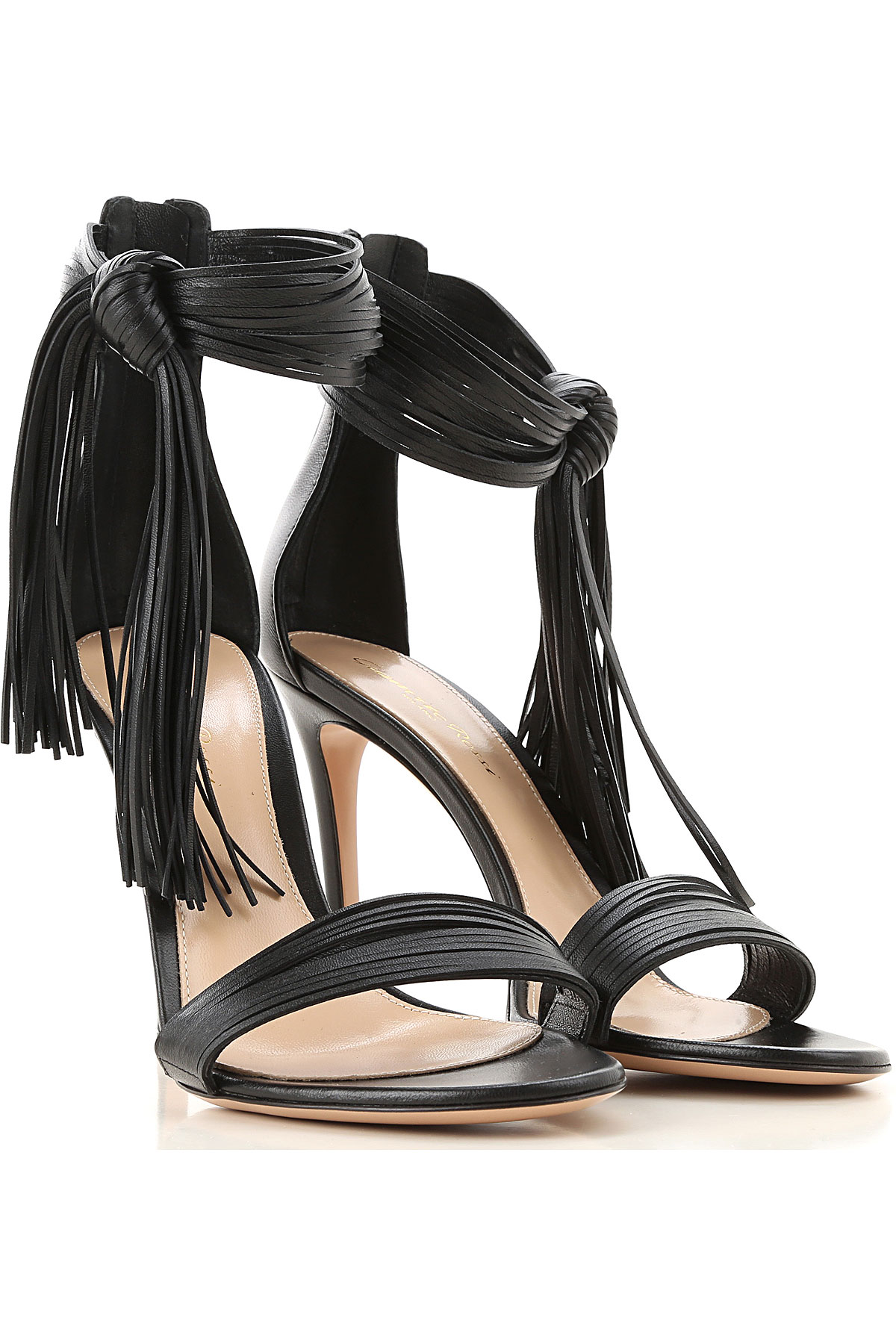 Gianvito Rossi Sandals for Women On Sale, Black, Leather, 2019, 5 6 6.5 7 8 9