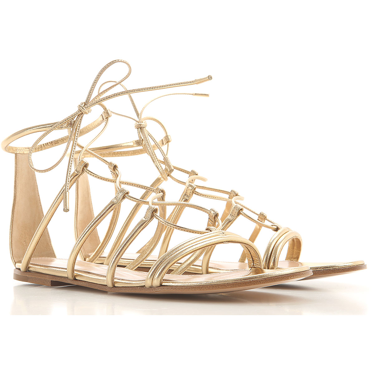 Gianvito Rossi Sandals for Women On Sale, Pale Gold, Leather, 2019, 10 11 6 6.5 7 8 8.5 9 9.5