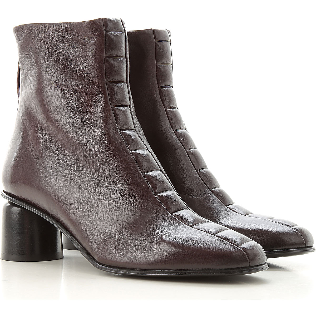 Halmanera Boots for Women, Booties On Sale, Brown, Leather, 2019, 5 6 6.5 7 8 8.5 9