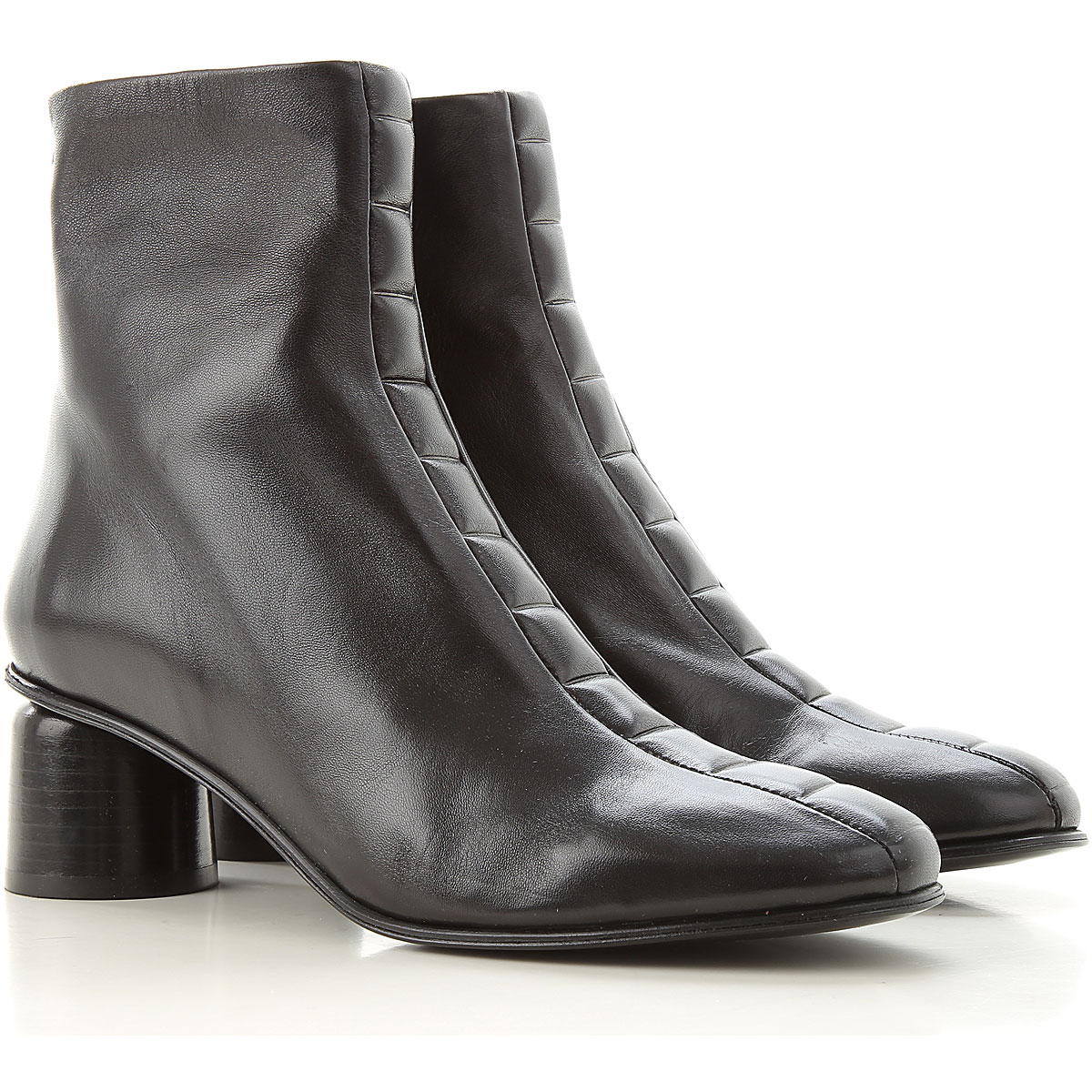 Halmanera Boots for Women, Booties On Sale, Black, Leather, 2019, 5 6.5 7 8.5 9
