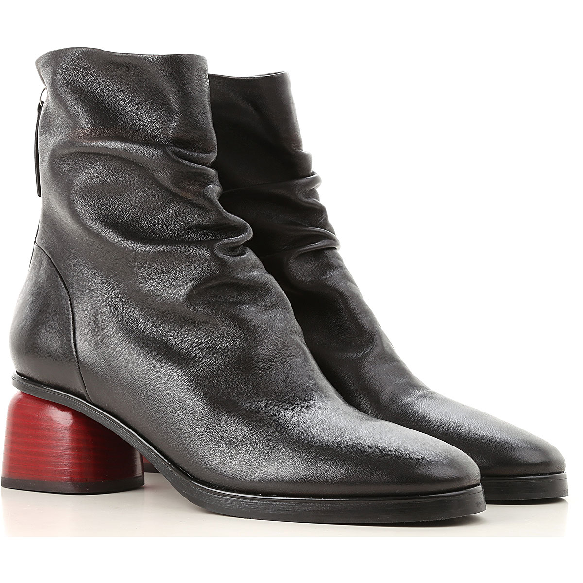 Image of Halmanera Boots for Women, Booties, Black, Leather, 2017, 6 8 9