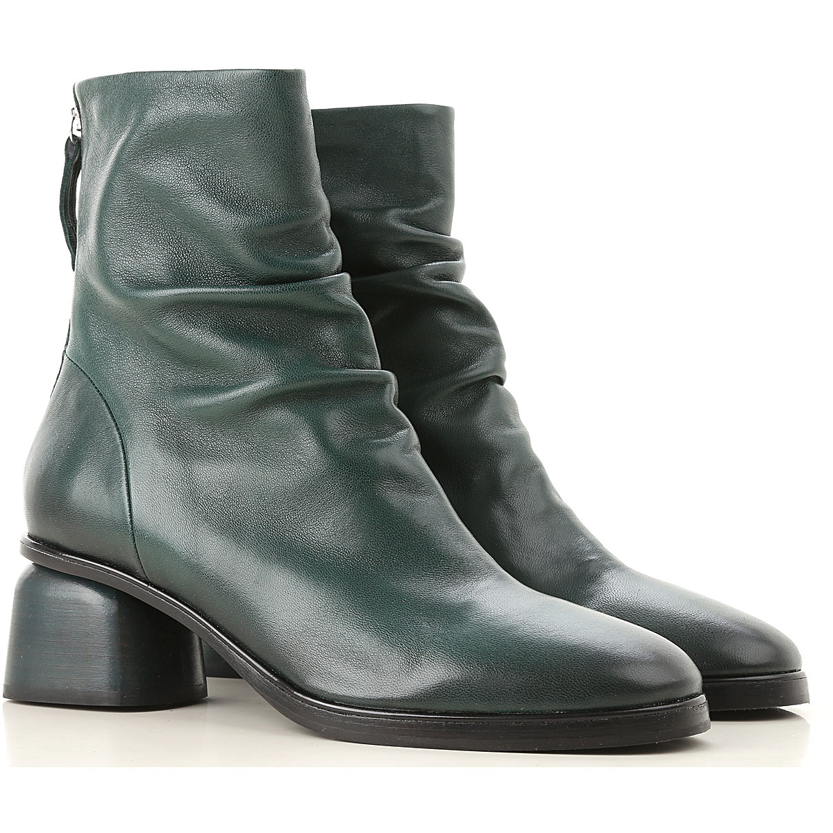 Image of Halmanera Boots for Women, Booties, Dark Green, Leather, 2017, 6 7 9