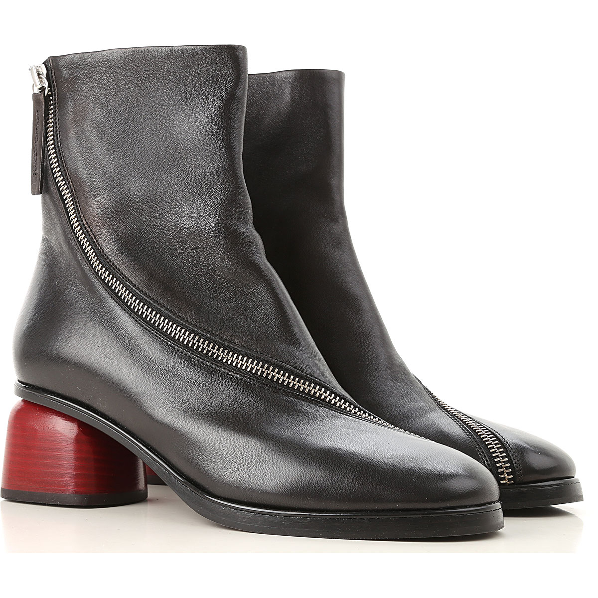 Image of Halmanera Boots for Women, Booties, Black, Leather, 2017, 10 6 9