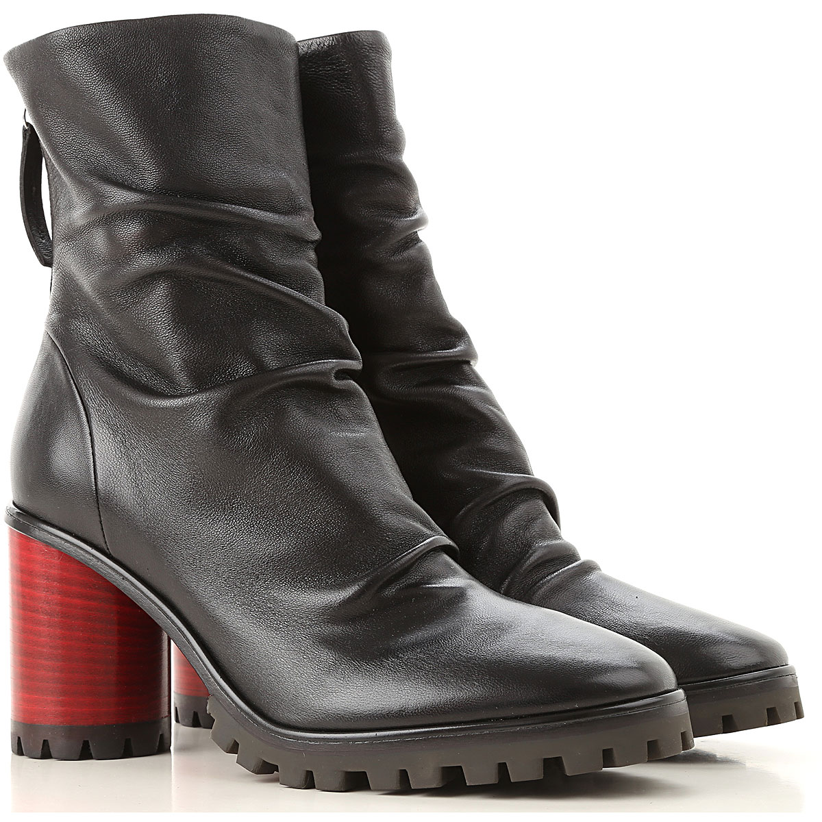 Image of Halmanera Boots for Women, Booties, Black, Leather, 2017, 10 6 7 8 9
