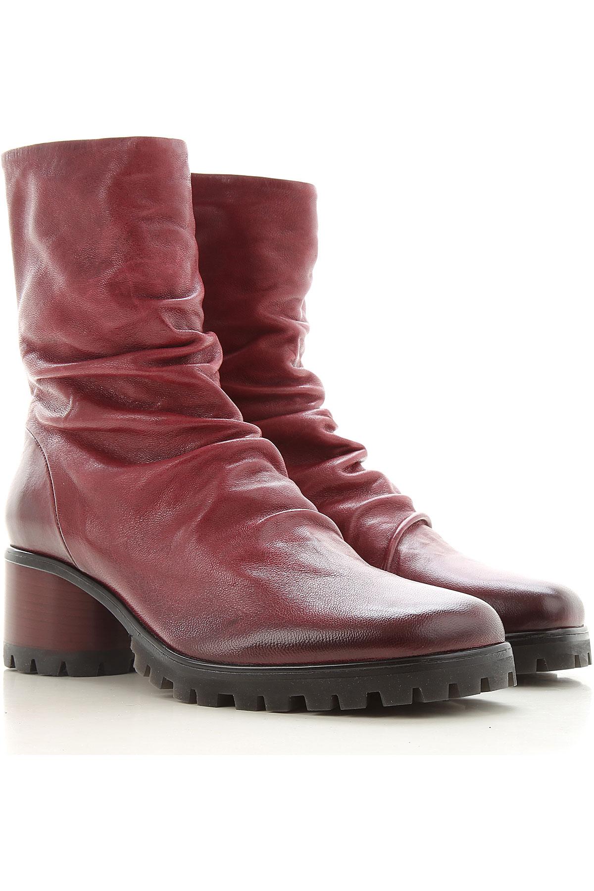 Halmanera Boots for Women, Booties, Bordeaux, Leather, 2019, 6 7 8