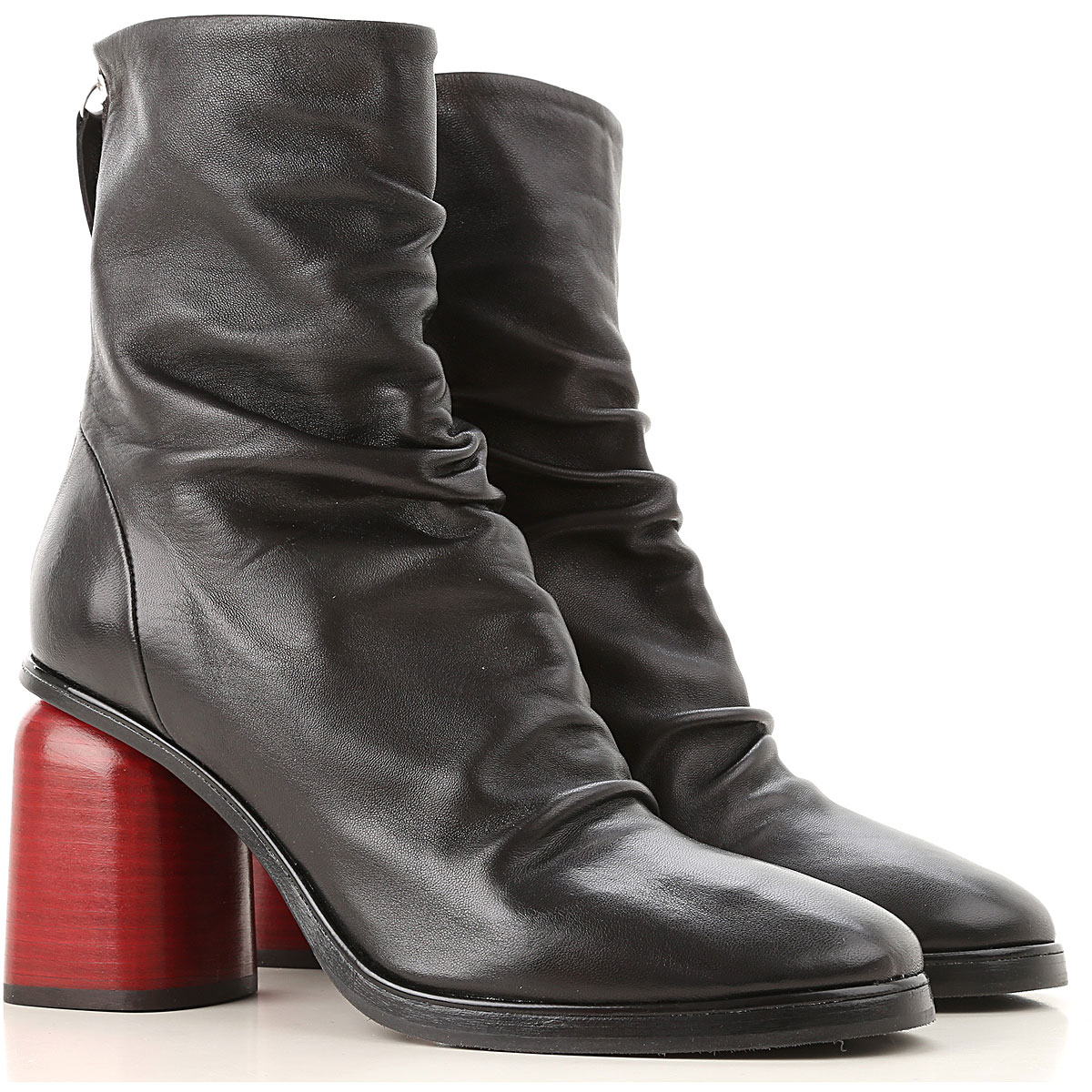 Image of Halmanera Boots for Women, Booties, Black, Leather, 2017, 6 7