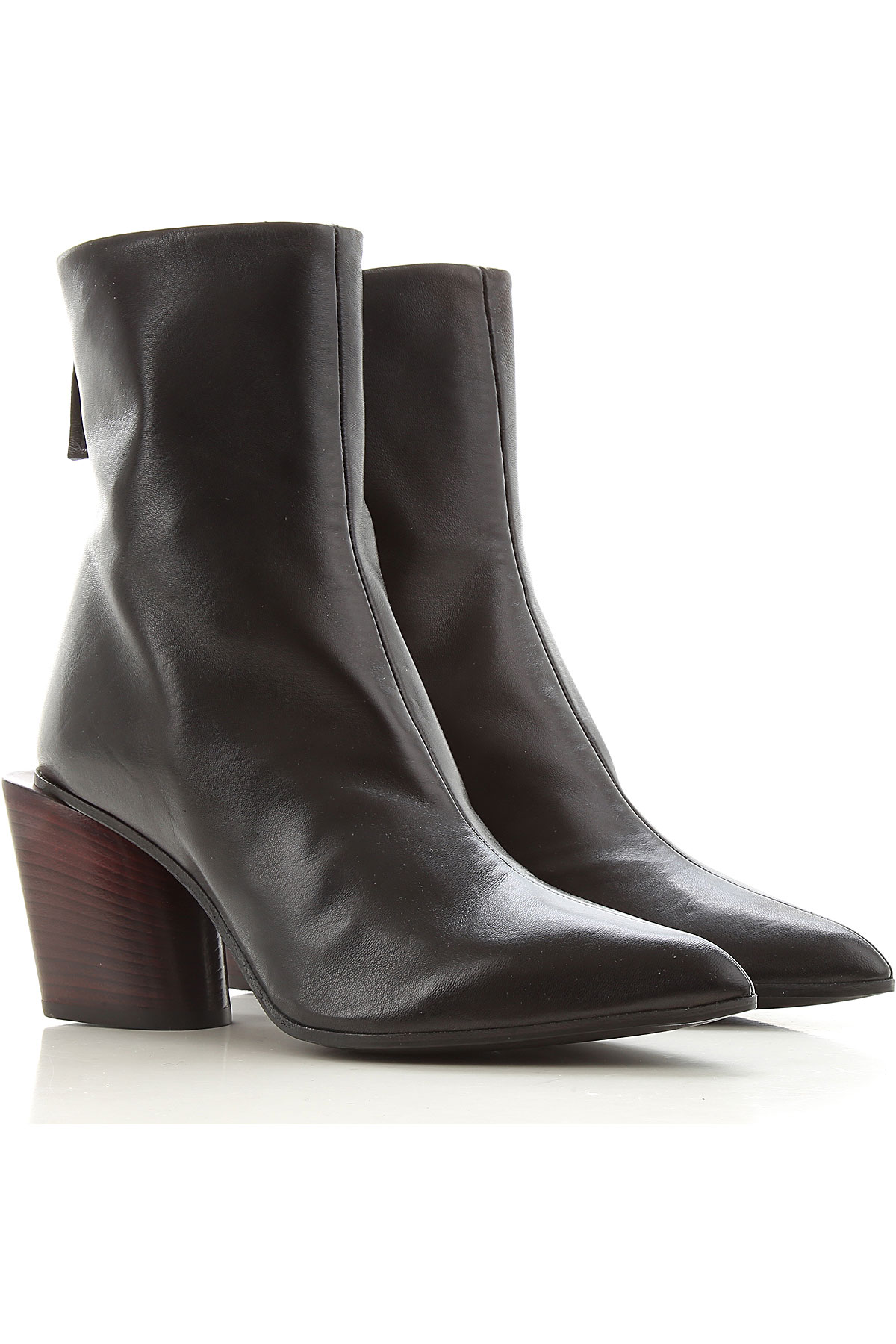 Halmanera Boots for Women, Booties, Black, Leather, 2019, 7 9