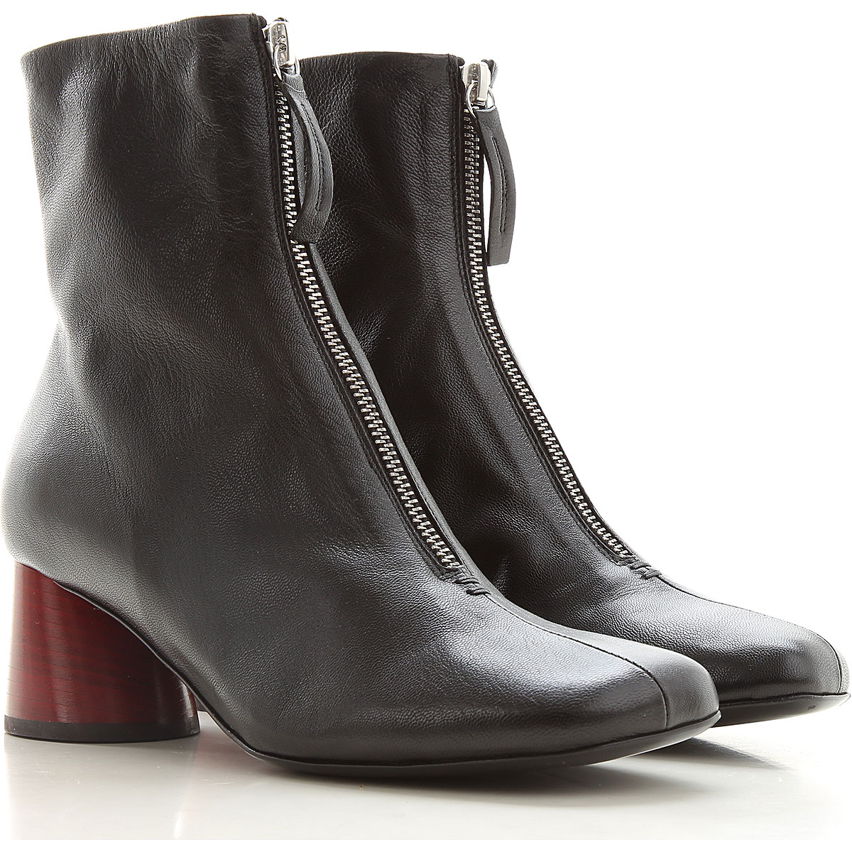 Halmanera Boots for Women, Booties, Black, Leather, 2019, 6 9