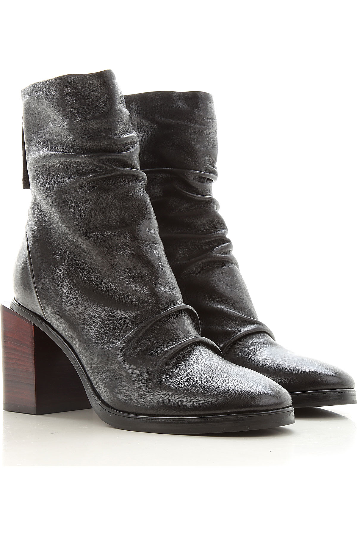 Halmanera Boots for Women, Booties, Black, Leather, 2019, 6 7 8 9