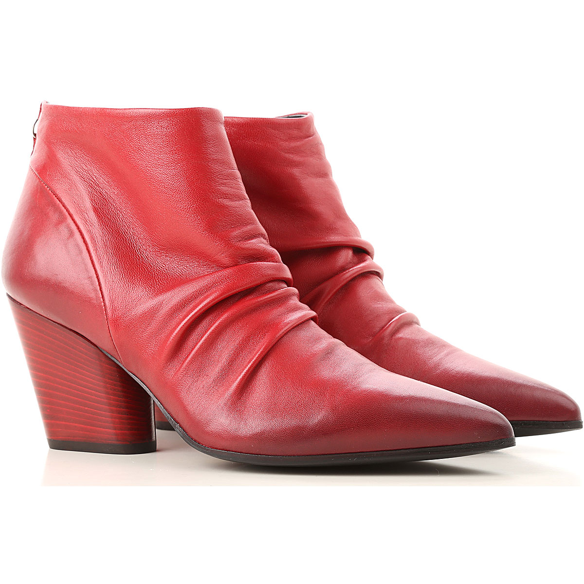 Image of Halmanera Boots for Women, Booties, Red, Leather, 2017, 10 7 8 9