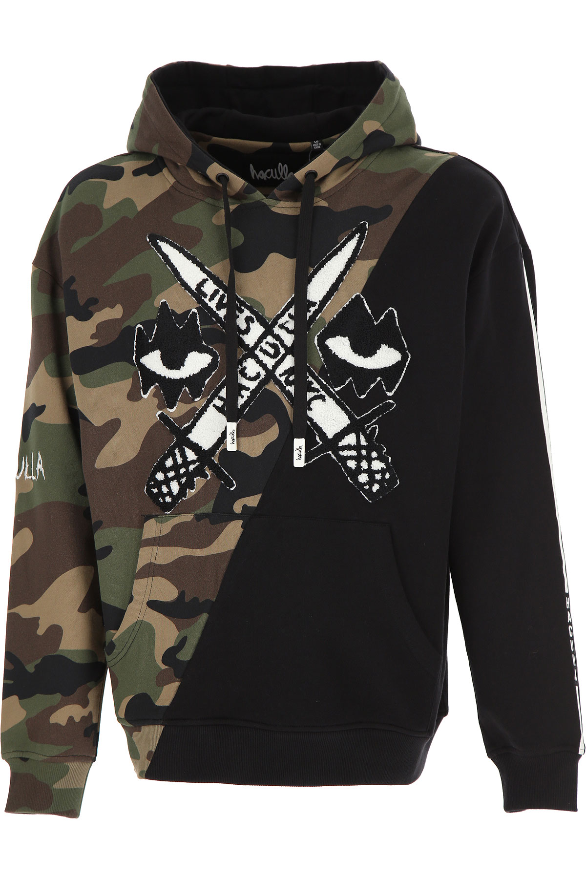 Haculla Sweatshirt for Men On Sale, camouflage, Cotton, 2019, S XS